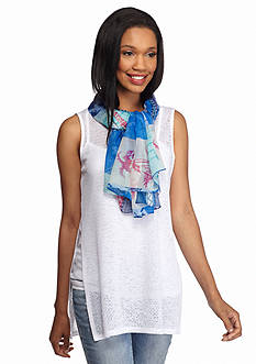 Collection XIIX Tropical Palm Square Scarf