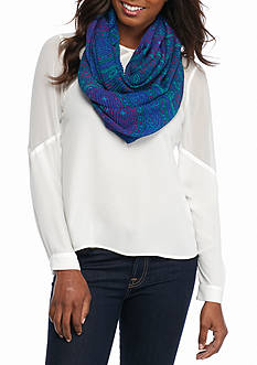 Collection XIIX Patchwork Medallion Infinity Scarf