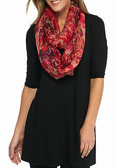 Collection XIIX Watercolor Floral Infinity Scarf