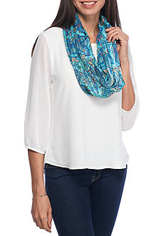 Collection XIIX Perfect Paisley Infinity Scarf