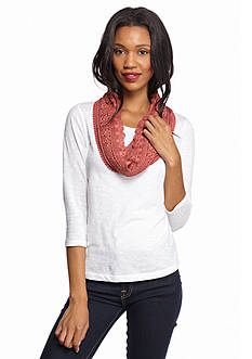 Collection XIIX Lace Lined Infinity Scarf