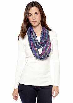 Collection XIIX Chevron Pleated Infinity Scarf