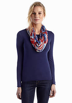 Collection XIIX Stars and Stripes Mini Loop Scarf