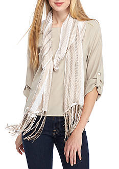 Collection XIIX Woven Fringe Slimmy Scarf