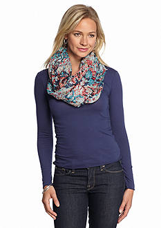 Collection XIIX Sketchy Floral Infinity Scarf