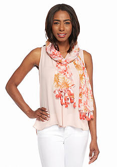 Collection XIIX Tropical Palm Scarf