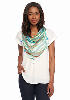 Collection XIIX Striped Triangle Wrap