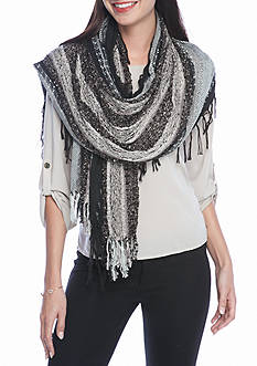 Collection XIIX Mixed Media Long and Skinny Wrap