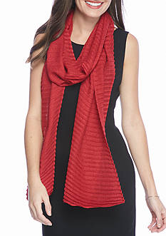 Collection XIIX Lurex Pleat Long and Skinny Scarf
