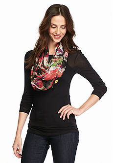 Collection XIIX Radiant Bloom Poly Infinity Scarf