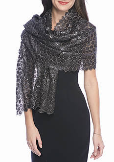 Collection XIIX Fancy Floral Sequin Wrap