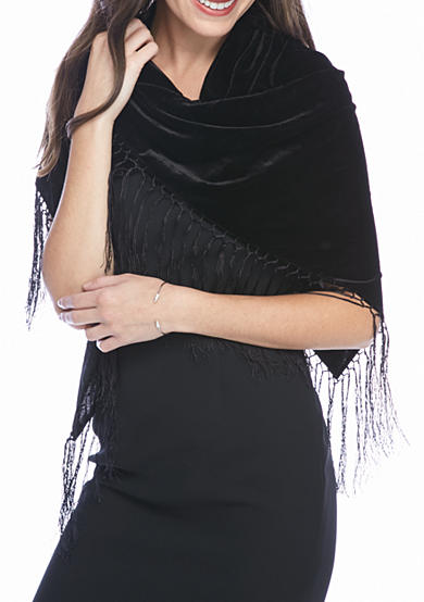 Collection XIIX Solid Velvet Triangle Scarf