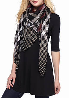 Collection XIIX Classic Plaid Square Scarf