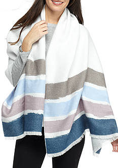 Collection XIIX Painted Striped Blanket Wrap