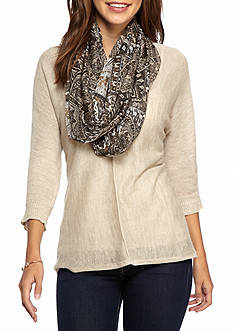 Collection XIIX Paisley Tile Infinity Scarf