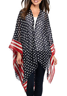 Collection XIIX Stars and Stripes Ruana