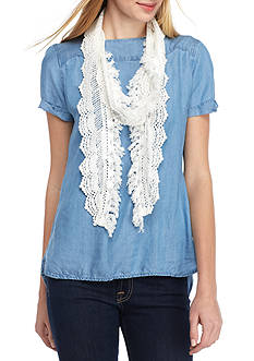 BCBGeneration Crochet Mini Skinny Scarf