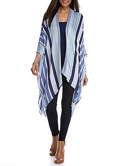 BCBGeneration Seaside Stripes Ruana
