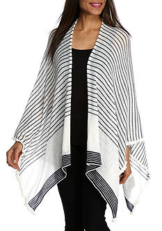 BCBGeneration Stripes Away Ruana