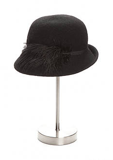 Collection XIIX Dressy Feather Cloche Hat