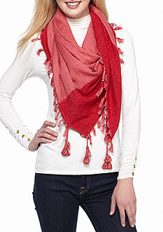 Collection XIIX Chenille Border Square Scarf
