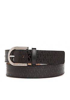 Michael Kors Signature Logo Patent Leather Belt