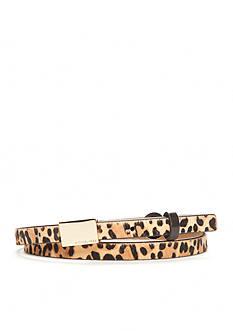 Michael Kors Leopard Print Belt