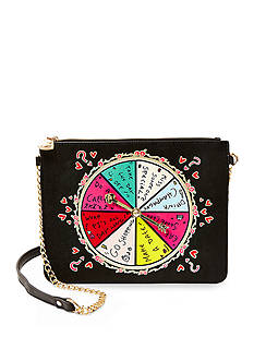Betsey Johnson Kitsch Spinner Crossbody