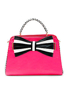 Betsey Johnson One, Two, Three Bow Satchel