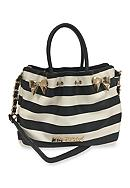 Betsey Johnson In a Pinch Satchel with Charger