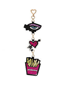 Betsey Johnson Eye Heart Fries Dangle