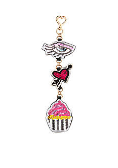Betsey Johnson Eye Heart Cupcakes Dangle
