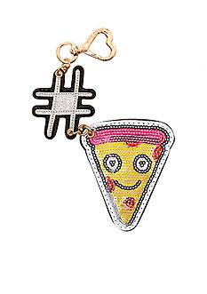 Betsey Johnson Hashtag Pizza Dangle