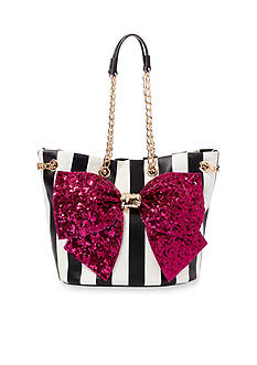 Betsey Johnson Bow-Lesque Sequin Drawstring Bag
