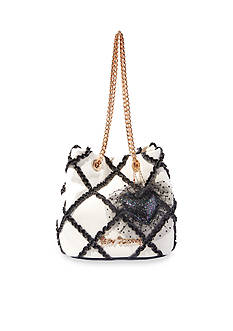 Betsey Johnson Cross Your Heart Drawstring Bag
