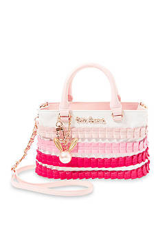 Betsey Johnson Pleats And Thank You Satchel