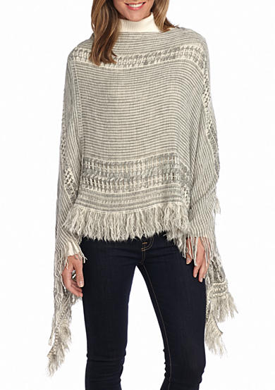 New Directions® Marled Mixed Retro Poncho