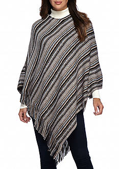 New Directions Stripe Poncho