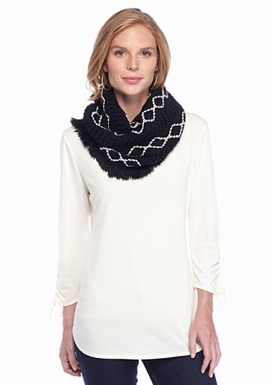 New Directions® Diamond Infinity Scarf