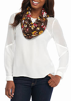 New Directions® Sunset Floral Infinity Scarf