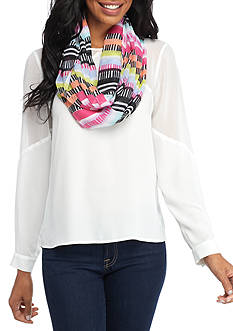 New Directions Lined Stripes Infinity Scarf