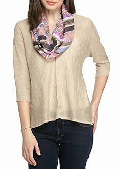 New Directions® Lined Stripes Infinity Scarf