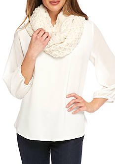 New Directions® Solid Criss Cross Infinity Scarf