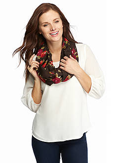 Cejon Watercolor Sprawling Roses Infinity Scarf