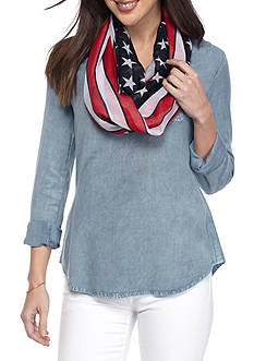 New Directions Stars and Stripes Infinity Scarf