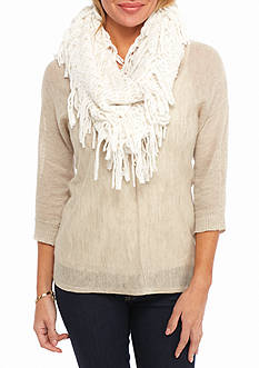 New Directions® Fringe Infinity Scarf
