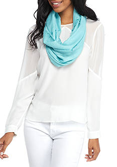 New Directions® Embossed Daisy Infinity Scarf