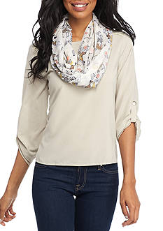 New Directions Swarming Butterflies Infinity Scarf