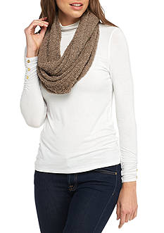 New Directions Stretchy Solid Lurex® Boucle Infinity Scarf