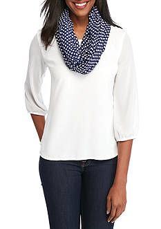New Directions® Polka Dot Infinity Scarf